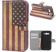American USA Flagge Leder Brieftasche Fall mit Ständer und Card Slot für Alcatel One Touch Pop C9