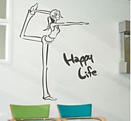JiuBai™ Happy Life Home Decoration Wall Sticker Wall Decal