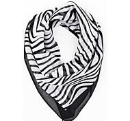 женщин вскользь Зебра печати Chiffion квадрат бандана платок