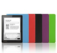 Shy Bear™ Litchi Style Smart PU Leather Cover Case for Kobo Aura 6 Inch (Not HD) Ebook