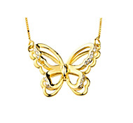 I FREE®Women's Butterfly Shape S925 Silver Pendant Necklace (Include Necklace) 1 pc
