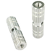 V.N.S 1 Pair BMX Bike Aluminum Alloy Rear Front Axle Silver Solid Foot Pegs