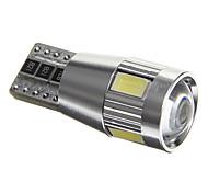 T10 3.5W 6x5730 SMD 200-230ML White Light LED Bulbs for Car Side Marker Lamp(DC12V)