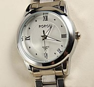 Women's  Fashion Rome  Calibration Waterproof Steel Band Watch