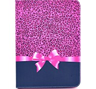Leopard Bow Pattern Full Body Leather Case Cover with Stand  for Samsung Tab 4 10.1 T530