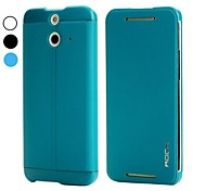 Rock Uni Series Gravel Pattern Smart Wake Sleep Design Flip Stand PC and PU Leather Case for HTC One E8(Assorted Colors)