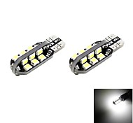 T10 2.5W 24x2835 SMD LED 120lm 6000K Cool White Light Dome Reading Side Marker Bulb for Car (DC 12V , 2-Pack)