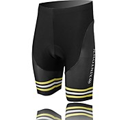 XINTOWN Unisex The High Quality Terylene Cushion Cycling Shorts—Black+Yellow