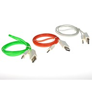 1.2M 3.94FT LED Light Micro USB Charger Data Sync Cable for Samsung/HTC,etc Free Shipping(Random Color)