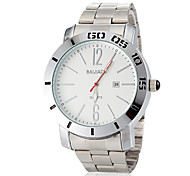 Men's Simple Round Dial Alloy Band Quartz Analog Dress Watch (Assorted Colors)
