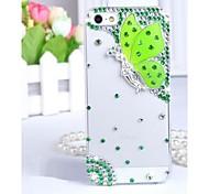 transparent Fall Schmetterling Mode Diamanten besetzte Strass zurück Fall für iPhone 4 / 4s (verschiedene Farben)