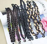 Big Size Elastic False Twist Weaving Hair Band Random Delivery