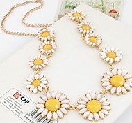 Lureme®Fashion Chrysanthemum Candy Color Necklace