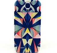 For Samsung Galaxy Case Pattern Case Back Cover Case Geometric Pattern PC Samsung S4