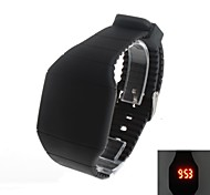 Men's Super Fashion  LED Square Rubber Wrist Watch
