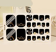 20Pcs Love You Style Toe Manicure Stickers Nail With Rhinestone