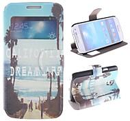 durch das Meer Seitenstraße Muster pu Ganzkörper-Gehäuse mit Fenster und stehen für Samsung Galaxy S4 Mini i9190