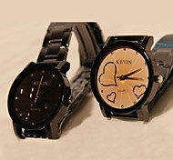 Women's Fashion Black  Cartoon Strip Couples Watch(Assorted Colors)
