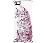Elegantes Design Katzen-Muster Aluminium Hard Case für iPhone 4/4S