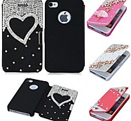 CaseBox® Luxury Design with Diamond PU Leather Full Body Case for iPhone 5/5S (Assorted Color)