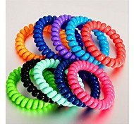 Sweet Telephone Line Candy Color Hair Ties Random Color