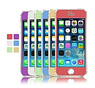 Angibabe Colorful 2 in 1 Plating Tempered Glass Screen Protector Front and Back for iPhone 5/5S