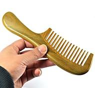 Natual Round Handle Green Sandalwood Wooden Comb