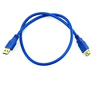 1.6M 5.24FT USB 3.0 Male to Female Super Speed Extension Cable Blue Free Shipping