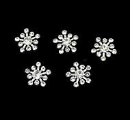 10шт горный хрусталь snownflake DIY аксессуары ногтей украшения