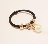 Sweet Hot Sale Circle Shape With Pearl Pendant Hair Ties
