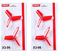 SYMA rc helicopter accessoires rotorbladen x3 rc quadcopter messen 2 sets in totaal 8 stuks