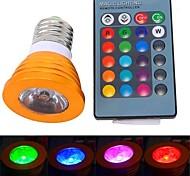 Focos Control Remoto E26/E27 3 W 1 LED de Alta Potencia 180 LM K RGB AC 85-265 V