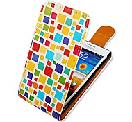 Square Matching Up-down Turn Over PU Leather Full Body Case for  Samsung Galaxy S2 I9100