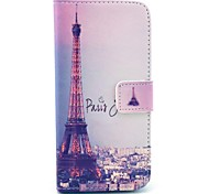 The Charming Paris And Eiffel Tower Pattern PU Leather Full Body Case for iPhone 6