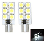 T10  1.5W 120lm 6000-6500K 6-3528SMD LED Car Door lamp - (2pcs)