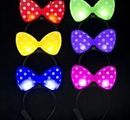 LED Flashing  Bowknot Design Plastic Party Light(Random Color x1pcs)
