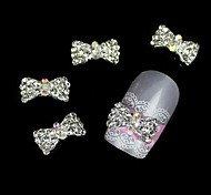 10pcs  3D Rhinestone Alloy Accessories Bow Tie For Finger Tips Nail Art Decoration