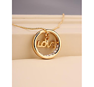 Fashion Round Love Necklace for Women in Jewelry Gift
