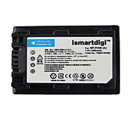Ismart Camera Battery for Sony HDR-CX12E,HDR-CX7E, HDR-SR10E, HDR-SR12E/SR11E, HDR-SR5E and More