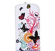 Schmetterling Liebe Blumenmuster PU-Leder Flip-Open Ganzkörper-Case für Samsung Galaxy Trend lite s7390 / s7392