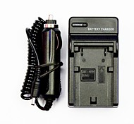 Camera Battery Charger with a Car Charger for JVC V808 (100V-240V)