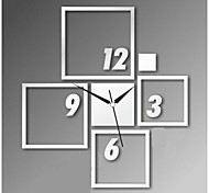 3D DIY Modern Style New Acrylic Square Mirror Wall Clock