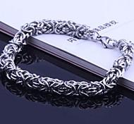 Men's Fashion Personality Titanium Steel Polycyclic Button Bracelets