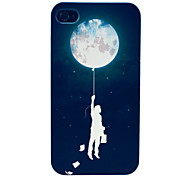 Man and Space Explorer Pattern Hard Case for iPhone 4/4S