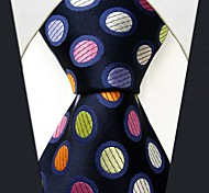 S5 Shlax & Wing Extra Long Size Dots Blue Multicolor Mens Neckties Ties Silk