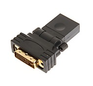 Rotating Head Style HDMI Female to DVI Male Adapter