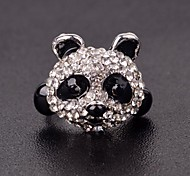 Special Cute Panda Style Black and White Women Band Rings