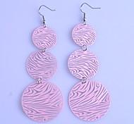 Lureme®Three-disc Stripes Earring