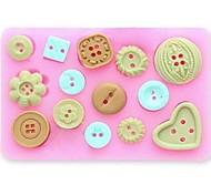 Кнопка помадной торт шоколад смолы глины конфеты силиконовые формы, l10m * w7.5cm * h1.3cm см-471