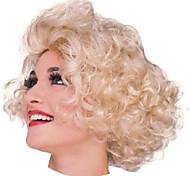 Marilyn Monroe Short Curly Golden 28cm Women's Halloween Party Wig Halloween Props Cosplay Accessories